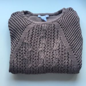🦔Chunky open knit sweater